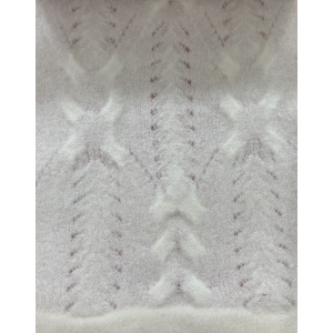 Knitted New Pattern in Moahir Blend White Yarn with new Design
