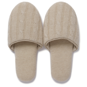 wholesale high-end lounge non-slip luxury fine wool cashmere slippers odm