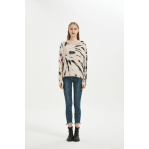 Wholesale Women New Arrival Wool Cashmere Tie Dye Pullover For Spring And Summer From China Vendor