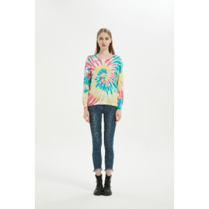 Wholesale DEC New Arrival Women Wool Cashmere Tie Dye Pullover From China Supplier