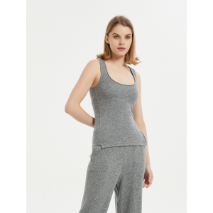 Wholesale OEM ladies pure cashmere tank top knitwear nightwear from Chinese manufacturer