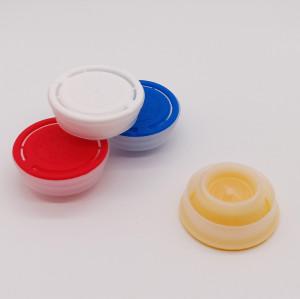 Plastic engine oil caps/flexible spout cap,42mm plastic spout cap for oil tin manufacturer China