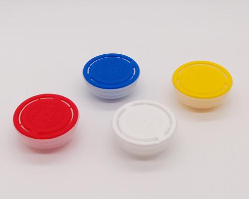Plastic spout caps for paint tin cans/spout cap plastic cap/42mm plastic non spill caps
