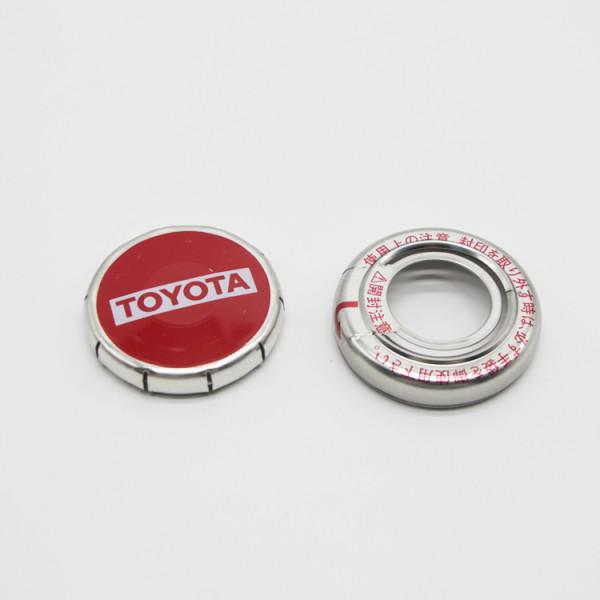 Japan engine oil metal cap,motor oil lids with the seals