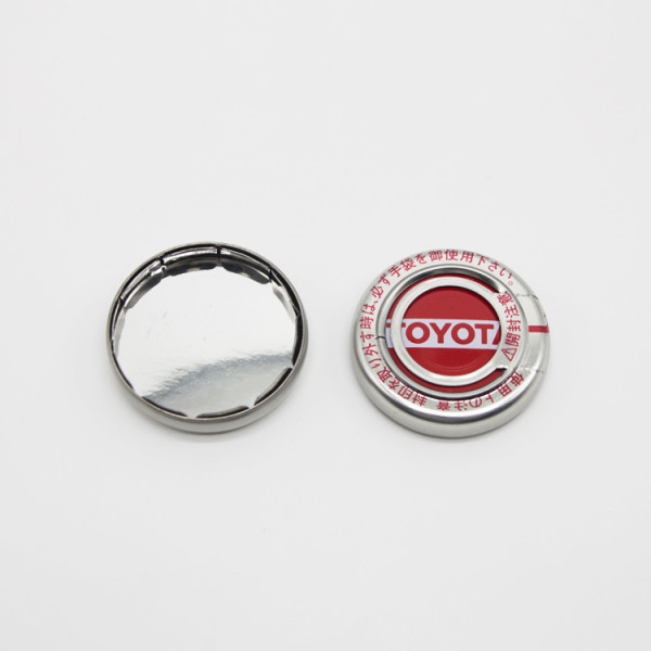 4L Toyota type logo metal pressure cap /iron lids for oil bucket engine oil tin can