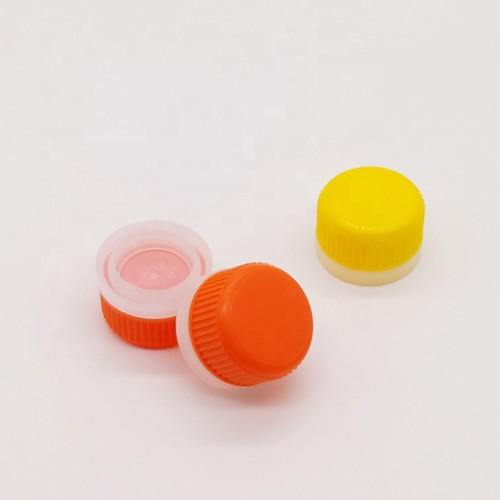 Factory wholesale 32mm plastic pull ring spout cap metal aerosol can round bottle screw caps