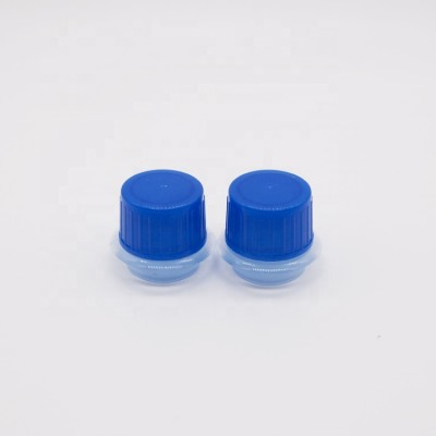 Non spill screw plastic top cap and closure for brake oil fluid