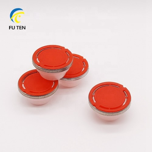 Red color plastic oil cap,flexspout closure with round metal ring
