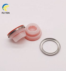 42mm 57mm Screw plastic caps for motor oil empty metal cans jars in stock