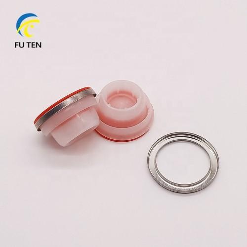 42mm 57mm Screw plastic caps for motor oil empty metal cans jars in stock
