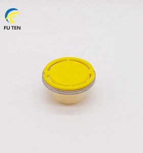 42mm Plastic PP PE spout and cap bottle screw closures with gold circle ring