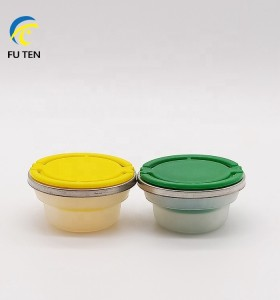 Factory direct colorful plastic bottle screw caps spout cover seal cap for empty chemical oil tin cans