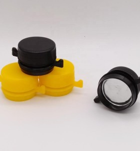 Best quality chemical use plastic PP/PE cap with screw neck for chemical oil can