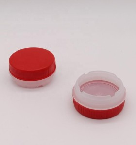 Manufacture 42mm plasti screw cap with ring-pull used to tin cans/bottles/buckets