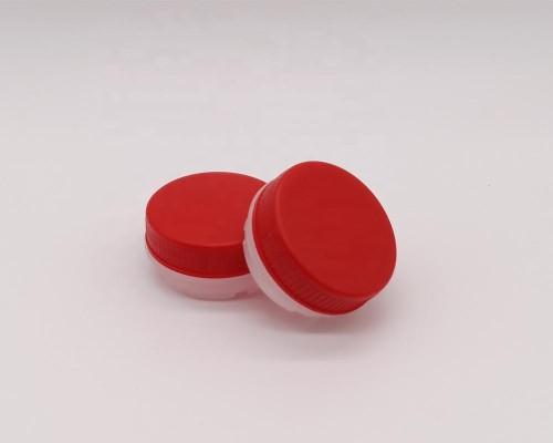 Plastic material PE PP screw cap empty oil tin can plastic spout and cap in stock