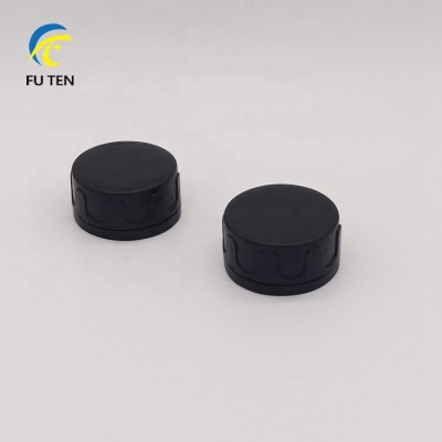 machine oil tin can cap,round black plastic cap