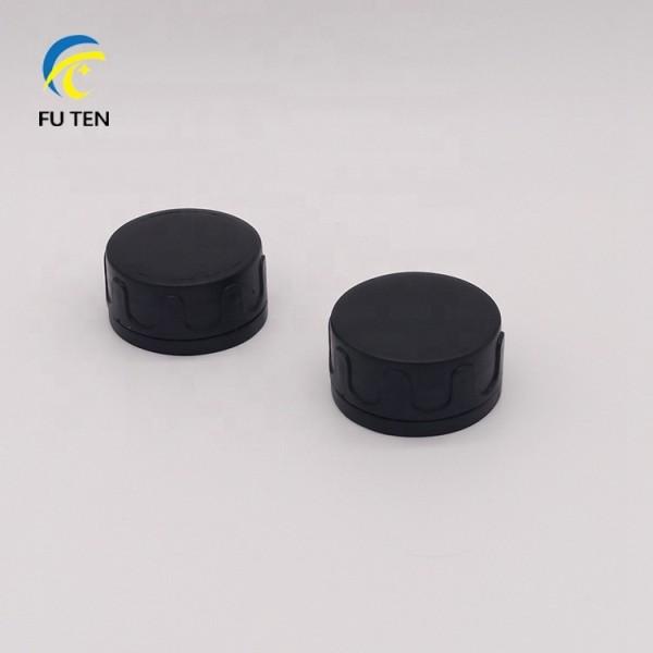 machine oil tin can cap,round black plastic cap
