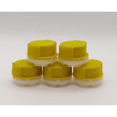 Factory wholesale 32mm screw plastic cap spout for empty gasoline engine oil tin can 100ml 150ml