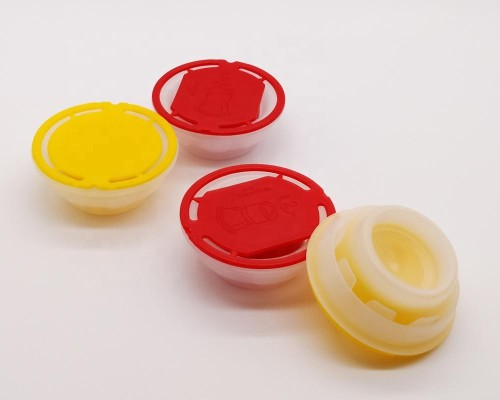 Wholesale good quality cheap price 57mm PVC glue screw cap/sealing plastic caps for metal tins