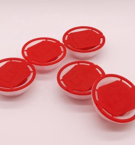 New design 57mm plastic red spout cap for 5W30 engine oil/metal tin paint caps