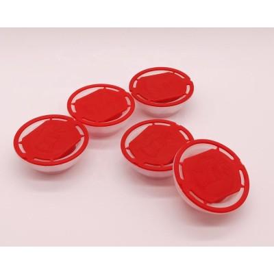 New design 57mm plastic red spout cap for 5W30 engine oil/metal tin paint caps