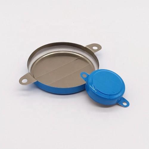 Multicolor metal tamper proof drum caps seals for diameter 70mm and 35mm