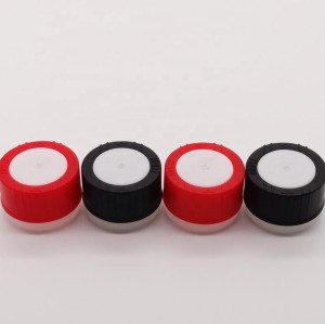 Multi-color plastic screw lids for round metal can