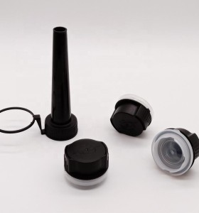 Plastic pull ring cap with cover for tin can additive oil can