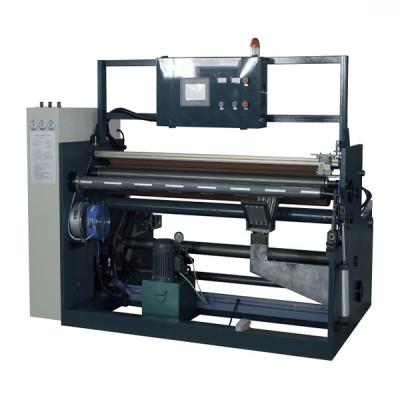 Máquina automática de corte y rebobinado de rollos