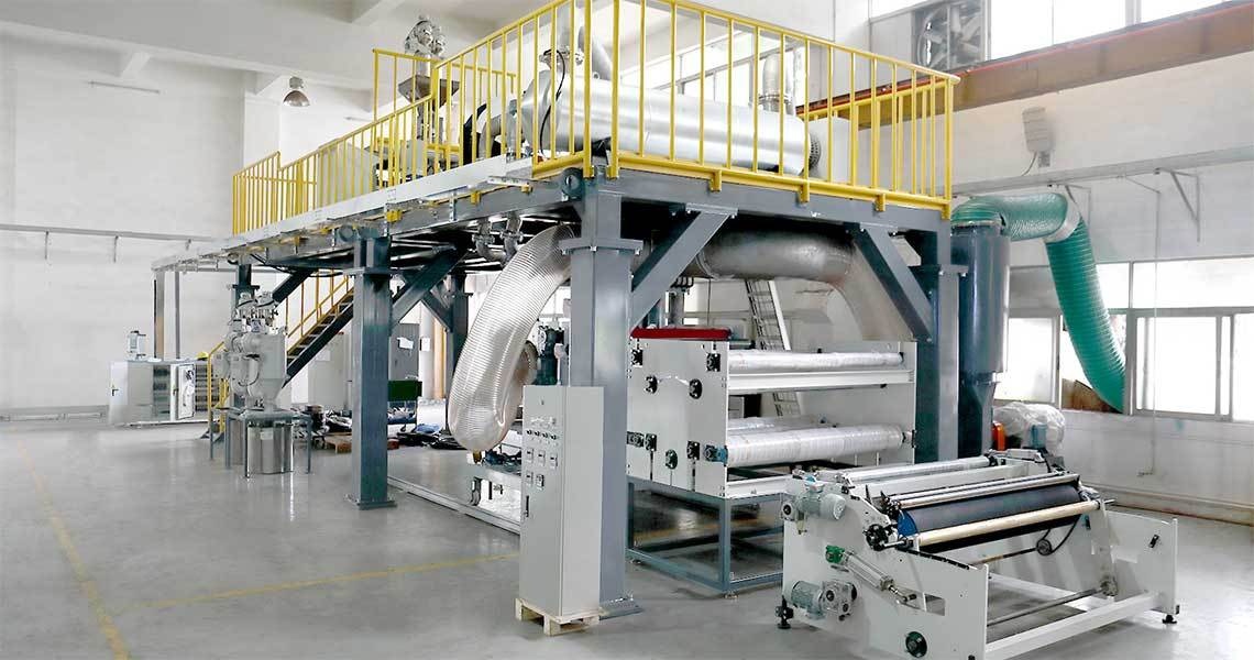 the eight devices of the meltblown non-woven fabric machine.