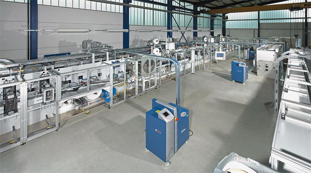 the specific components and process flow of the spunbond non-woven machine