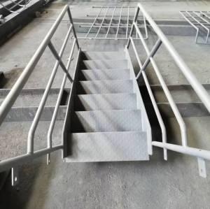 安全で安定した鋼構造プラットフォームの手すり、手すり