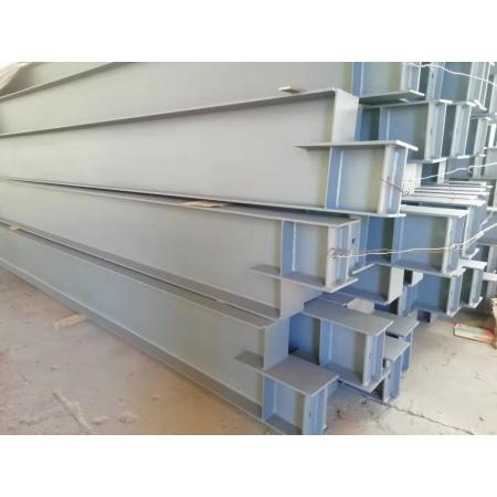 Steel frame beams and columns made of concrete with annoying structures of various cross-sections.