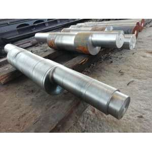 Machining production of eccentric shaft of mechanical parts of pulverizer