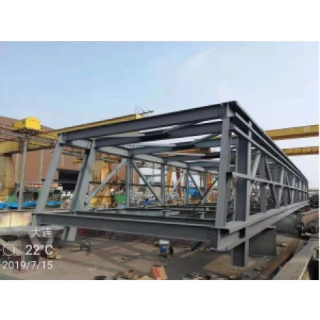 Manufacturing of strong bearing capacity, stiffness of steel coal trestle