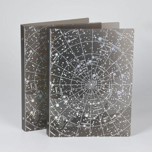 Starry Sky File PP مجلد ملف بلاستيك مع Ring Binder