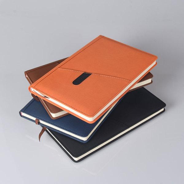 レザーカバーパーソナライズA5サイズオフィスビジネスハードカバーノートブック在庫あり