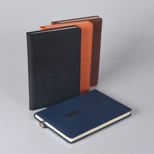 غطاء جلدي مخصص A5 بحجم دفتر أعمال مكتب غلاف فني في المخزون