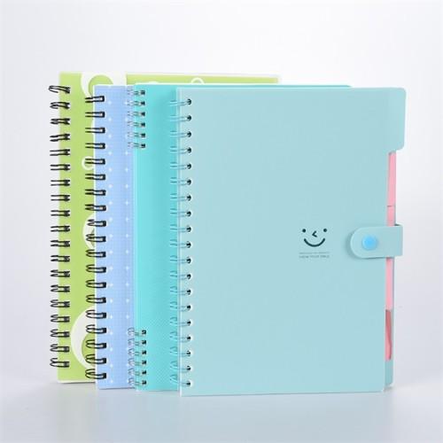 PP Hardcover Spiral Notebook mit Knopfverschluss