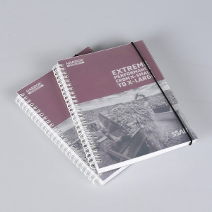 Frosted PP Cover Spiral Notebook with Elastic Rope