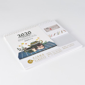 Customzized 2020 Table Calendar with Memo Pad