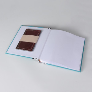 Linen Hardcover Photo Album with Inner pPages&Clear Inner Pockets