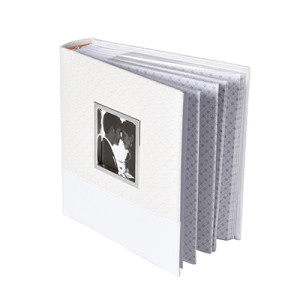 PU Leather Cover Photo Album with Inner Pages and Clear Pockets