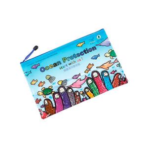 Waterproof PVC Zipper Document Bag for School Office Supplies