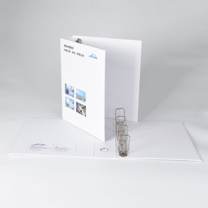 White Heavy-Duty 4 Rings Binder