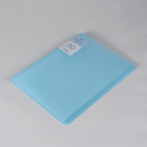 30 Pockets Clear Sleeves Protectors Blue Display Book