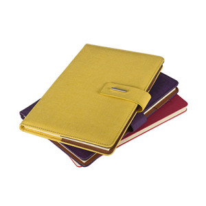 A5 PU Leather Notebook with Band Closure and Pen Holder