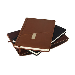 Leather Cover Personalized A5 Size Office Business Hardcover Notebook In Stock