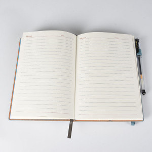 A5 PU Leather Notebook with Card Holder Slots and Elastic Band