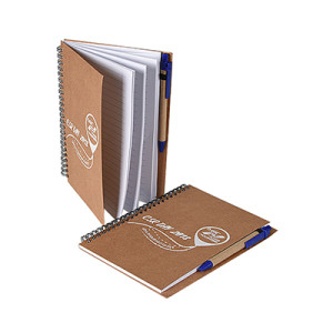 Soft Kraft Cover Spiral Notebook with Lined Paper